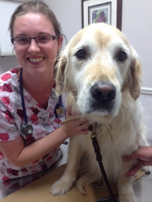 Stephanie with one of our patients